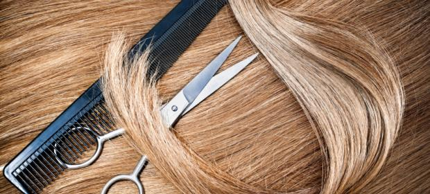 Picture of hair and scissors